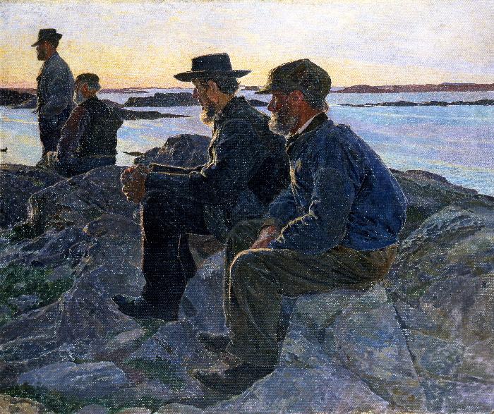 Carl Wilhelmson, På berget, Fiskebäckskil, 1905-06. Foto: Göteborgs konstmuseum