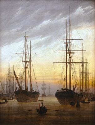 Caspar David Friedrich - Utsikt över en hamn